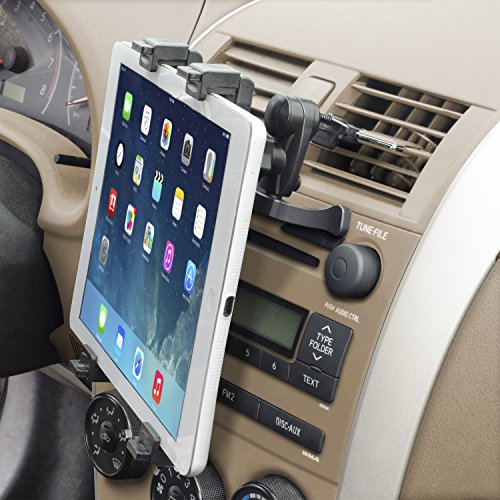 "[Lifetime Warranty] Okra® Universal Tablet Air Vent Car Mount Holder with 360° Rotating swivel compatible w/ Apple iPad, Samsung Galaxy Tab, and all Tablet Devices 7"" to 11"" (Retail Packaging) from Electronic-Readers.com"