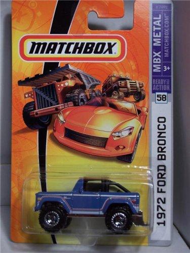 Mattel Matchbox 2007 MBX Metal 1:64 Scale Die Cast Car # 58 - Light Blue 4x4 SUV 1972 Ford Bronco