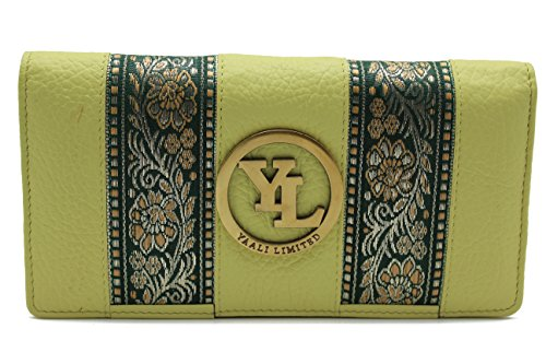 yl-womens-genuine-leather-clutch-wallet-purse-hipster-embroidery-lace-lime