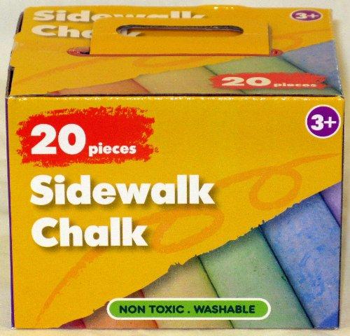 20 Pieces Colorful Sidewalk Chalk