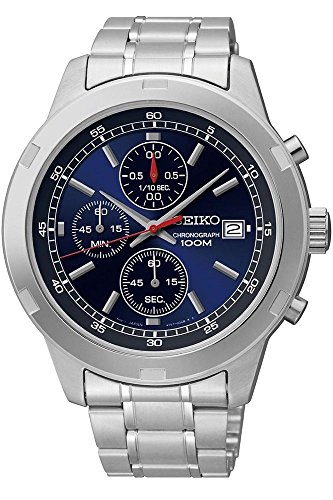 Seiko SKS419 Chronograph Blue Dial Stainless Steel Mens Watch