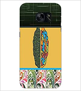 PrintDhaba Abstract Design D-5622 Back Case Cover for SAMSUNG GALAXY S7 (Multi-Coloured)