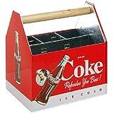 Galvanized Coca-Cola Utensil Caddy Coke Flatware Holder