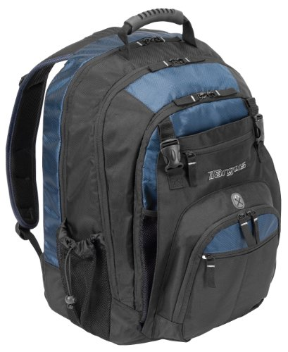 Targus Xl Backpack Designed For 17 Inch Notebooks, Black With Blue Accents (Txl617)