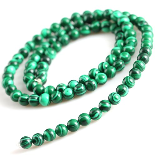 Yesurprise Circular Synthetic Malachite Loose