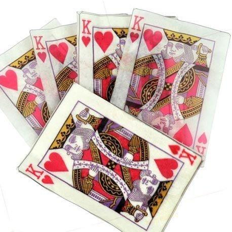 """Tour de magie - Cartes en papier flash """"Roi de Cœur"""" (lot de 10 cartes)"""