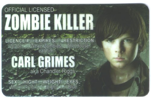 Zombie Killer Carl Fun Fake ID License - 1