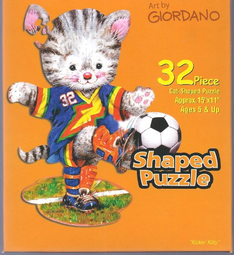 Art by Giordano Cat Shaped 32 Piece Puzzle