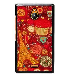 printtech Paris Chocolate Gift Back Case Cover for Nokia XL Dual SIM RM-1030/RM-1042 with dual-SIM card slots
