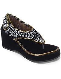 Thari Choice Woman's Heel Embroidered Sandal
