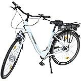 Fischer E-bike City Ecoline - Shimano 7 Gang Nexus - 1 Akku, Matt Weiß, 28, 19020