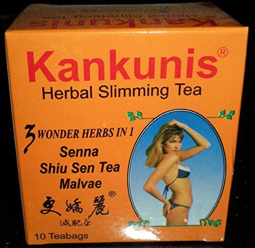 Kankunis Herbal Slimming Tea 10 Teabags 3 Wonder Herbs