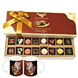 Chocholik Belgium Chocolates - 16pc Mix Assorted Surprise With Diwali Special Coffee Mugs - Diwali Gifts