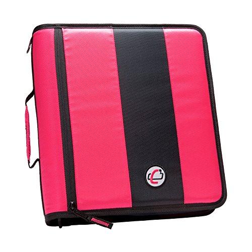 Case-it 2-Inch Ring Zipper Binder, Neon Pink (D-251-NeoPnk