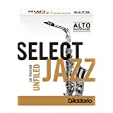 Rico Select Jazz Alto Sax Reeds, Unfiled, Strength 4 Strength Soft, 10-pack (Tamaño: 4-Soft, Unfiled)