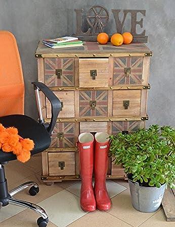 Pecho de cajones de estilo retro sólida de muebles de dormitorio armario industrial