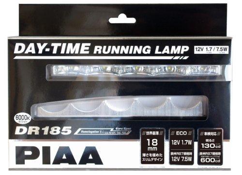 PIAA ( ピア ) LEDデイタイムランプ 【DR185 6000K】 2個入り L-232