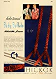 1936 Ad Baby Buffalo Action Bak Braces Hickok Buckles - Original Print Ad