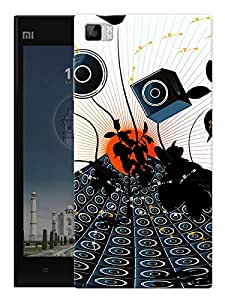 "Speaks And Music Printed Designer Mobile Back Cover For ""Xiaomi Redmi MI3"" By Humor Gang (3D, Matte Finish, Premium Quality, Protective Snap On Slim Hard Phone Case, Multi Color)"