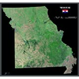 State of Missouri from Space Poster