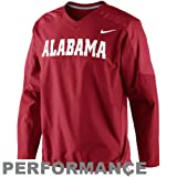 Nike Alabama Crimson Tide Fourth Down Performance Pullover Wind Jacket - Crimson (Small) at Amazon.com