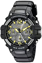 Casio Men's MCW-100H-9AVCF Heavy Duty-Design Chronograph Black Watch