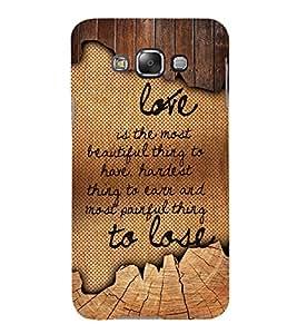 Love Is The Most Beautiful 3D Hard Polycarbonate Designer Back Case Cover for Samsung Galaxy E5 :: Samsung Galaxy E5 E500F (2015)