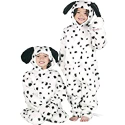 Boys or Girls Kids Deluxe Dalmatian Dog Onesie Animal Fancy Dress Costume Outfit