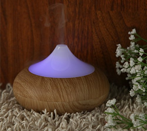Origlam® 160Ml Mini Aroma Humidifier 7 Colors Light Aromatherapy Essential Oil Diffuser With Negative Ions For Air Clean, Applicable For Office Bedroom Yoga Spa Exercise Massage (Light Brown)