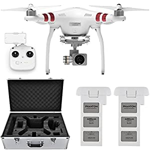 DJI Phantom 3 Standard Quadcopter Drone w/ 2.7K Camera + Extra Battery and Hard Case from DJI