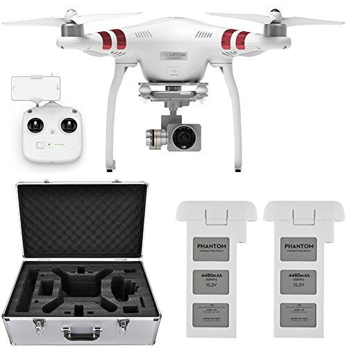 DJI-Phantom-3-Standard-Quadcopter-Drone-w-27K-Camera-Extra-Battery-and-Hard-Case