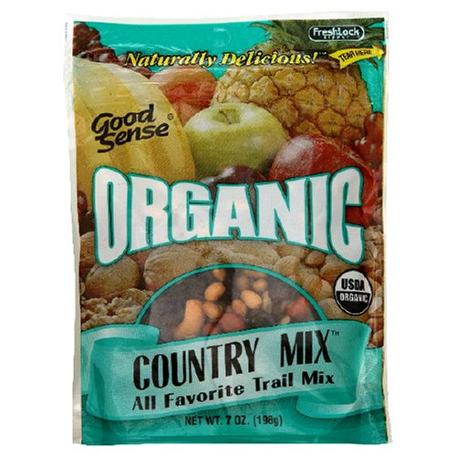 Buy Good Sense Organic Country Mix All Favorite Trail, 7-Ounce Bag (Pack of 6) (Good Sense, Health & Personal Care, Products, Food & Snacks, Snacks Cookies & Candy, Snack Food, Trail Mix)