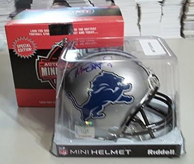 2015 Leaf Autographed Mini-Helmet - Matt Stafford - Detroit Lions