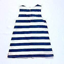 Hot Pet Dog Printed Kids Girls Summer Casual Sleeveless Striped Dress