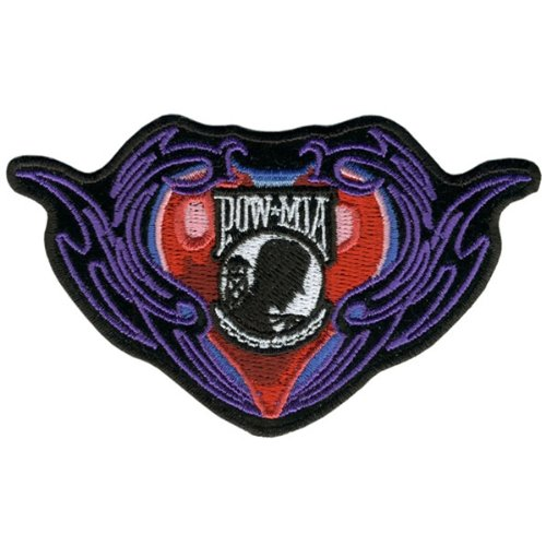 Hot Leathers Pow Tribal Heart Patch (4