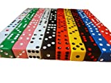 100 Assorted Dice 10 Colors 16 mm - Great for Gaming Casino Night