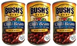 Bush's Best Chili Beans-- pinto beans in mild chili sauce (3 pack) each can is 16 ounces for a total of 48 ounces