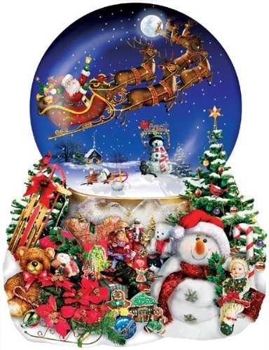 Christmas Snow Globe Shaped Puzzle 1000 Pieces