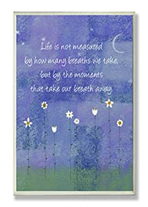 Stupell Home Life Is Not Measured by How Many Breaths Inspirational Wall Plaque