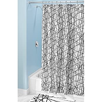 InterDesign Abstract Shower Curtain, Black and White, 72-Inch by 72-Inch coupon codes 2015