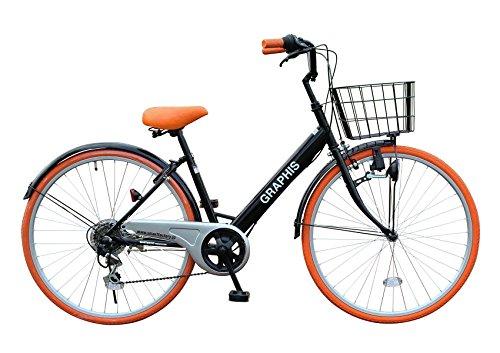 選べる5色! 自転車 シティサイクル ママチャリ シマノ製6段変速 26インチ  通勤 通学 街乗り メンズ レディース