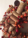 Small Fall Berry Wine Cork Wreath