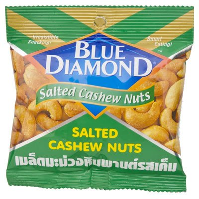 Blue Diamond Cashew Nut 35G.(1 Pcs.)From Thailand