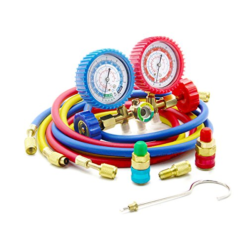 Raomdityat 1PC Diagnostic Manifold Gauge Kit Ideal For R134A, R12, R22, R502 Refrigerants 5FT (Sight Glass Repair Kit compare prices)