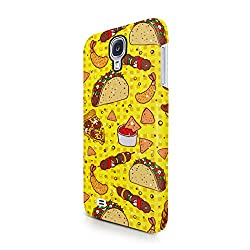 Fast Mexican Food Burito & Pizza & Taco Pattern Tumblr Print Hard Plastic Samsung Galaxy S4 Phone Case Cover from CaseON