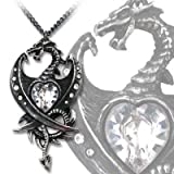 Diamond Heart Pendant by Alchemy Gothic, England