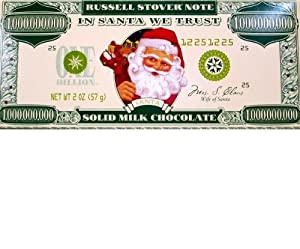 Russell Stover Solid Milk Chocolate - Santa Buck (12 Pack)