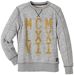 Garcia Jungen Sweatshirt T43138, Gr. 164 (Herstellergröße: 164/170), Grau (Grey Melange 66)