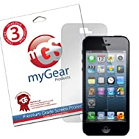 myGear Products SunBlock Screen Protector Film for iPhone 5 - (3 Pack) Anti-Glare/Anti-Fingerprint