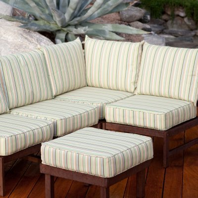 Cabos Sectional Corner Patio Chair - CAB-SECCR-O-CE-MEADOW STRIPE